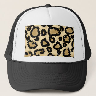 Leopard Print Pattern, Brown and Black. Trucker Hat
