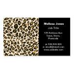 Leopard print pattern business card