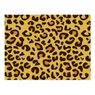 Leopard print pattern postcard