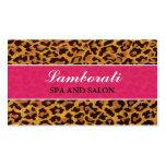 Leopard Print Pink Fashion Designer Elegant Modern Pack Of Standard Business Cards