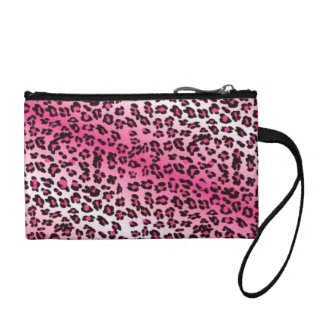 Leopard Print Pink & White Coin Purse