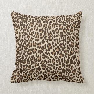 Leopard Print Reversible Solid Pillow