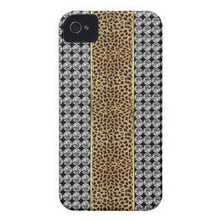Leopard Print Rhinestone Iphone barely There case Case-Mate iPhone 4 Cases