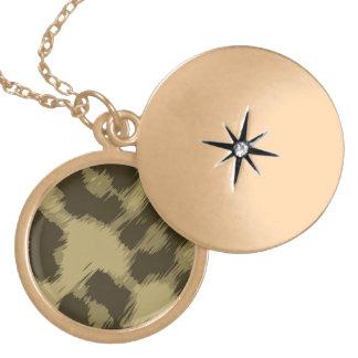 Leopard Print Round Locket Necklace