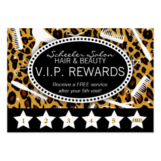 Leopard Print Salon Loyalty Pack Of Chubby Business Cards
