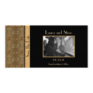 Leopard Print Save The Date Photo Card
