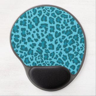 Leopard Print Shades of Blue Gel Mouse Mat
