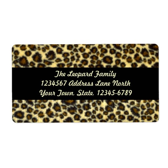 Leopard Print Shipping Labels