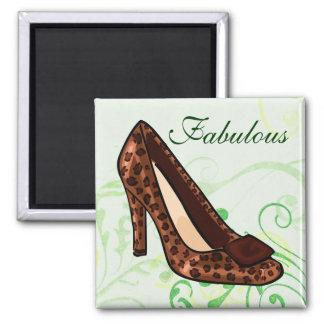 Leopard Print Shoe Magnet