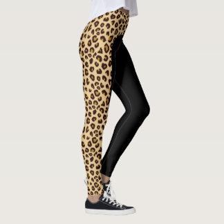 Leopard Print Side Stripe Leggings