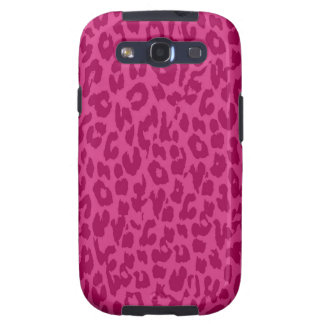 Leopard Print Skin Fur | Rubine Red Retro Samsung Galaxy S3 Cases