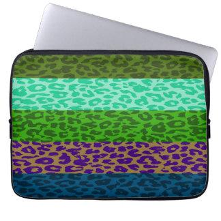 Leopard Print Skin Stripe Pattern 2 Laptop Computer Sleeves