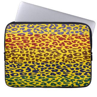 Leopard Print Skin Stripe Pattern 8 Computer Sleeves