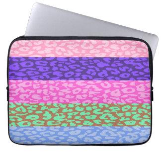 Leopard Print Skin Stripe Pattern Computer Sleeve