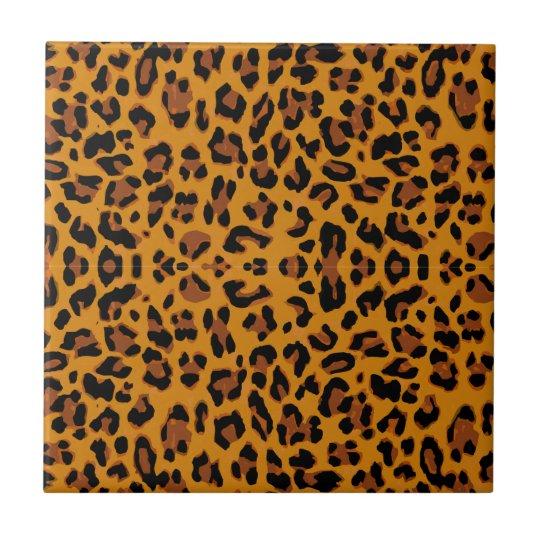 Leopard Print Small Square Tile