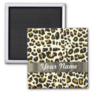 leopard print square magnet