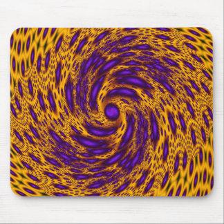Leopard Print Swirl Mouse Pad