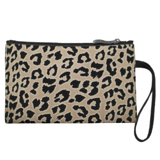 Leopard Print Wristlet