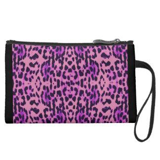 Leopard Print Wristlet Purses
