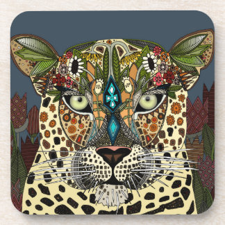 leopard queen blue coaster