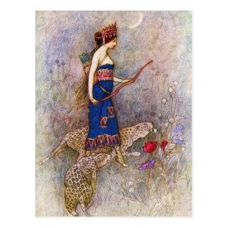 Leopard Queen Postcard