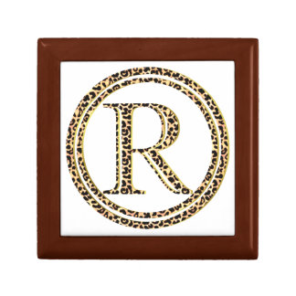 Leopard R Small Square Gift Box