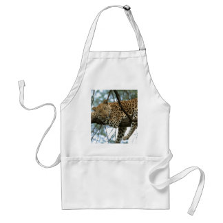 Leopard Resting in Tree Adult Apron