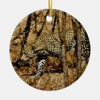Leopard Round Ceramic Decoration