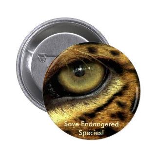 Leopard s Eye Endangered Species Button