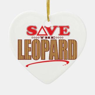 Leopard Save Christmas Ornament