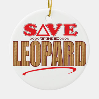Leopard Save Christmas Ornament