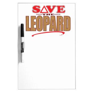 Leopard Save Dry Erase Board