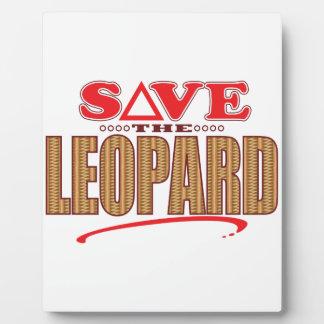 Leopard Save Plaque