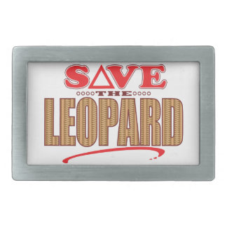 Leopard Save Rectangular Belt Buckles