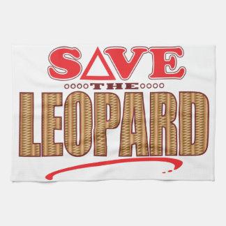 Leopard Save Tea Towel