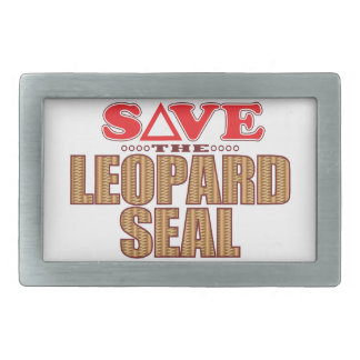 Leopard Seal Save Belt Buckles