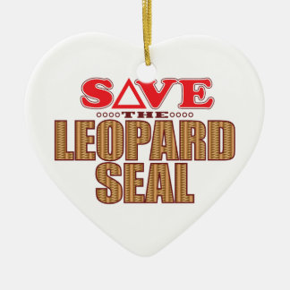 Leopard Seal Save Christmas Ornament