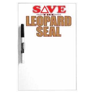 Leopard Seal Save Dry Erase Board
