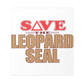 Leopard Seal Save Notepad