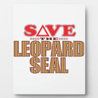 Leopard Seal Save Plaque