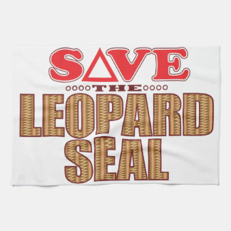 Leopard Seal Save Tea Towel