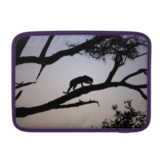 Leopard silhouette in a tree, Kenya MacBook Sleeve