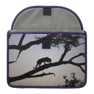 Leopard silhouette in a tree, Kenya Sleeve For MacBooks