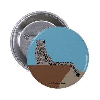 Leopard Sitting Button