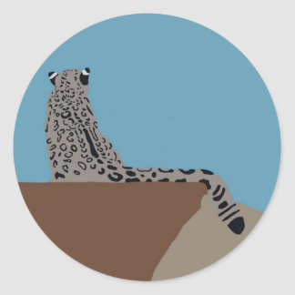 Leopard Sitting Sticker