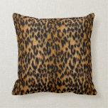 Leopard Skin Animal Print Throw Pillow Cushions
