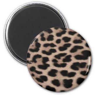 Leopard Skin background 6 Cm Round Magnet