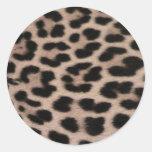 Leopard Skin background Classic Round Sticker