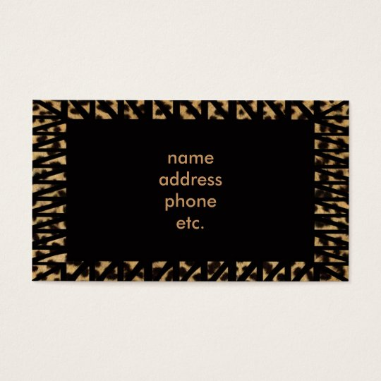 leopard skin  business card