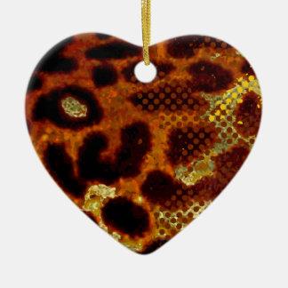 Leopard skin christmas ornament